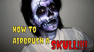 Halloween Airbrush Makeup Kit by How To Face Paint Skull Airbrush For Halloween Youtube