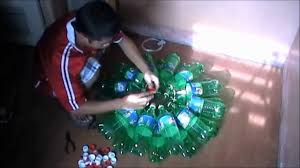 how to build christmas lantern from recycled bottles youtube