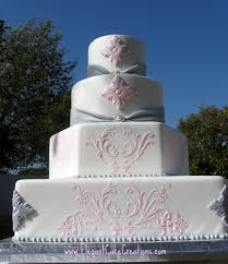 pink u0026 grey wedding cake here u0027s another cake i did for the u2026 flickr