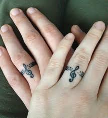 matching couple music tattoos creativefan