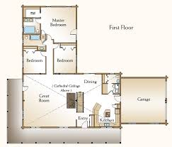 one story cabin plans the cheyenne is a beautiful one story log home floor plan that