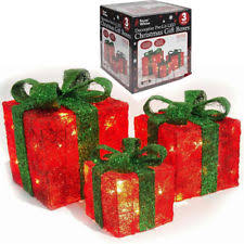 indoor lighted gift boxes christmas lighted gift boxes 3pcs light up presents xmas tree indoor