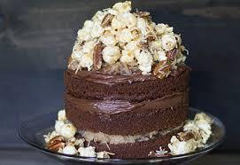 german chocolate caramel corn cake diamond nuts