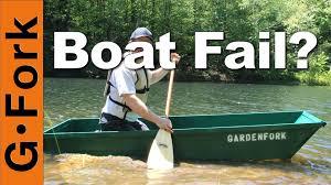 one sheet plywood boat fail or float gardenfork youtube