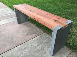 Redwood Patio Table Remodelaholic Modern Concrete And Redwood Bench Tutorial