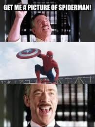 J Jonah Jameson Meme - fans react to spider man in captain america trailer business