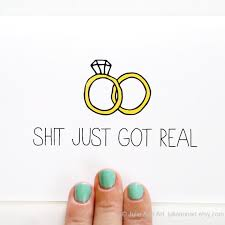 engagement announcement cards engagement card wedding announcement sh t just got real