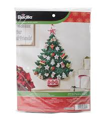 bucilla nordic tree advent calendar felt applique kit joann