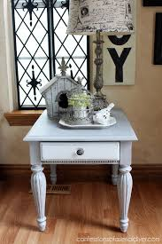 White Painted Coffee Table by Grey U0026 White Painted Side Table Confessions Of A Serial Do It