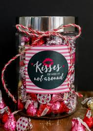 cute and simple valentine u0027s day gift kisses jar an adorable and