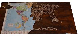 World Map Push Pin Board diy string art world map ideas for the house pinterest diy