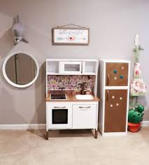 Play Kitchen Ideas Ikea Hack Duktig Children S Play Kitchen Finished Decorating