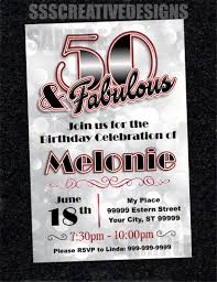 50th Birthday Invitation Cards 50th Birthday Invitation Card Turning 50 Printable Digital Diy