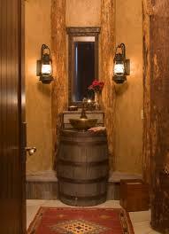 bathroom awesome rustic powder bathroom decoration using vintage
