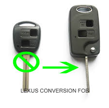 lexus gs300 key fits lexus is200 gs300 ls400 rx300 2 button conversion flip remote