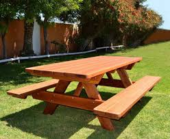 Wooden Picnic Table Plans Best Round Wood Picnic Table All About House Design