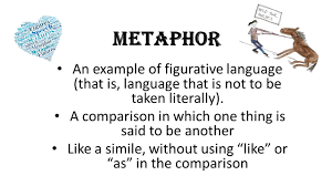 metaphor an example of figurative language that is language that