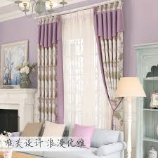 Cotton Drapery Panels Jacquard Window Curtains Bedroom Luxury Embroidered Tulle Soft
