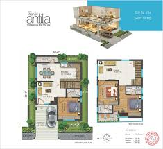 Antilla Floor Plan by Dgyik120 Sq Yds West Facing Jpg
