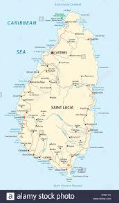 Saint Lucia Map Travel Saint Lucia Stock Photos U0026 Travel Saint Lucia Stock Images