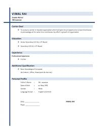 how to write a simple resume format how to write simple resume format sle an effective template make