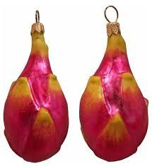 pitaya fruit blown glass ornament