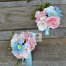 pink corsage 2016 newly free shipping white pink blue purple party