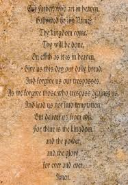 the lords prayer on an old paper background stock photo picture