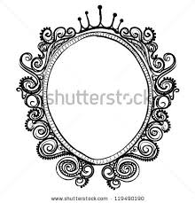 vintage frame sketch vector isolated on stock vector 119490190