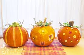 whimsical pumpkin centerpieces thanksgiving squishy designs
