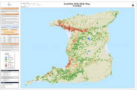 Map Of Trinidad Flood And Landslide Susceptibility And Risk Office Of Disaster