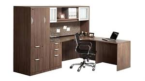 l shaped desk with hutch right return l shaped desk with hutch and wardrobe storage modern walnut right