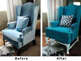 débrouille votre vieux fauteuil en tissu est taché repeignez le