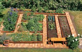 the simplicity of raised vegetable garden front yard