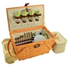 picnic basket for 4 picnic baskets for less overstock
