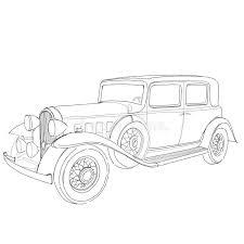 old classic car sketch stock illustration image 38999076