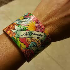 ed hardy ed hardy leather bracelet from oana u0027s closet on poshmark