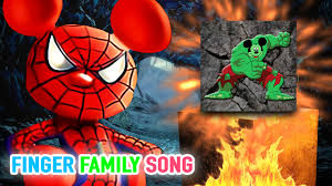 halloween skeleton song spiderman mickey mouse and friends rock carvings finger family