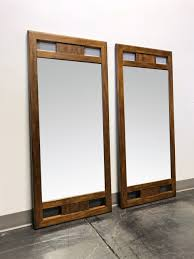 drexel heritage woodbriar pecan campaign style mirrors pair