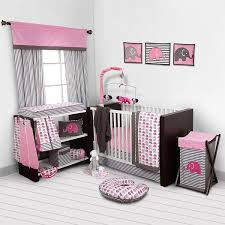 Crib Bedding Set With Bumper Bacati Elephants Pink Grey 10 Pc Crib Set Without Bumper Pad