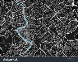 Black And White Map Black White Vector City Map Rome Stock Vector 563344981 Shutterstock