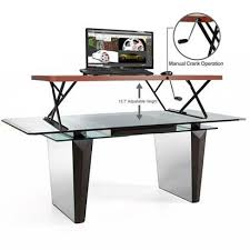 halter manual adjustable height table top sit stand desk an in