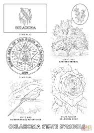 Oklahoma State Map Oklahoma State Symbols Coloring Page Free Printable Coloring Pages