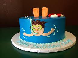 Dragon Ball Z Cake Decorations by Swimming Cake Cake Designs Las Vegas Cakes Pinterest