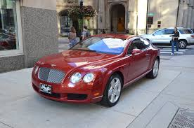 red bentley 2005 bentley continental gt stock b322a for sale near chicago