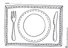 typical english printable placemats kids color