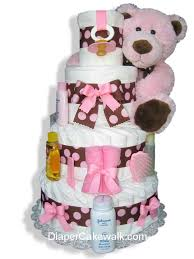 diper cake brown pink 4 or 5 tier cake at best prices