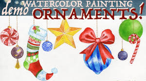 ornaments watercolor painting demo