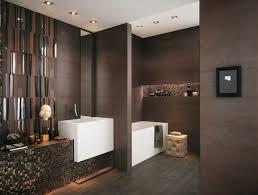 brown bathroom ideas brown chocolate brown mosaic effect modern bathroom tiles