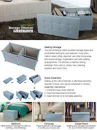 amazon com lifewit large folding storage ottoman bench storage